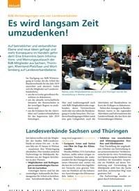 Titelbild der Ausgabe 3/2019 von Landesverbände Sachsen und Thüringen. Zeitschriften als Abo oder epaper bei United Kiosk online kaufen.
