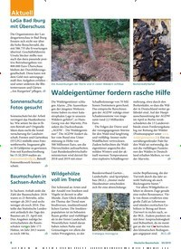 Titelbild der Ausgabe 5/2019 von Waldeigentümer fordern rasche Hilfe. Zeitschriften als Abo oder epaper bei United Kiosk online kaufen.