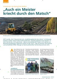 """Titelbild der Ausgabe 5/2019 von Ausbildung in der Baumschule Heydorn: """"Auch ein Meister kriecht durch den Matsch"""". Zeitschriften als Abo oder epaper bei United Kiosk online kaufen."""