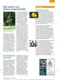 Titelbild der Ausgabe 8/2019 von GB: Import von Eichen eingeschränkt. Zeitschriften als Abo oder epaper bei United Kiosk online kaufen.