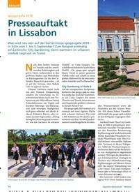 Titelbild der Ausgabe 8/2019 von spoga+gafa 2019: Presseauftakt in Lissabon. Zeitschriften als Abo oder epaper bei United Kiosk online kaufen.