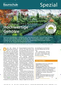 Titelbild der Ausgabe 8/2019 von Oldenburger Vielfalt vom 19. bis 23. August 2019: Hochwertige Gehölze. Zeitschriften als Abo oder epaper bei United Kiosk online kaufen.