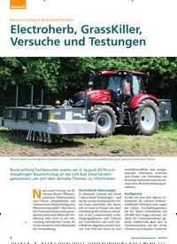 Titelbild der Ausgabe 9/2019 von Baumschultag in Bad Zwischenahn: Electroherb, GrassKiller, Versuche und Testungen. Zeitschriften als Abo oder epaper bei United Kiosk online kaufen.