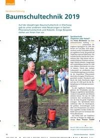Titelbild der Ausgabe 10/2019 von Gerätevorführung: Baumschultechnik 2019. Zeitschriften als Abo oder epaper bei United Kiosk online kaufen.