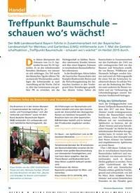 Titelbild der Ausgabe 10/2019 von Gartenbaumschulen in Bayern: Treffpunkt Baumschule – schauen wo's wächst!. Zeitschriften als Abo oder epaper bei United Kiosk online kaufen.