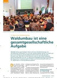 Titelbild der Ausgabe 11/2019 von 12. Bayerischer Waldbesitzertag: Waldumbau ist eine gesamtgesellschaftliche Aufgabe. Zeitschriften als Abo oder epaper bei United Kiosk online kaufen.