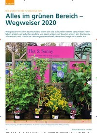 Titelbild der Ausgabe 1/2020 von Die großen Trends für das neue Jahr: Alles im grünen Bereich – Wegweiser 2020. Zeitschriften als Abo oder epaper bei United Kiosk online kaufen.