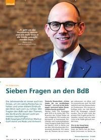 Titelbild der Ausgabe 1/2020 von Im Interview: Sieben Fragen an den BdB. Zeitschriften als Abo oder epaper bei United Kiosk online kaufen.