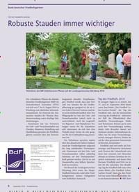 Titelbild der Ausgabe 9/2018 von Bund deutscher Friedhofsgärtner: FÜR DIE GRABBEPFLANZUNG: Robuste Stauden immer wichtiger. Zeitschriften als Abo oder epaper bei United Kiosk online kaufen.