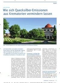 Titelbild der Ausgabe 11/2018 von DBU-FACHTAGUNG: Wie sich Quecksilber-Emissionen aus Krematorien vermindern lassen. Zeitschriften als Abo oder epaper bei United Kiosk online kaufen.