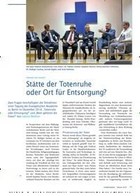 Titelbild der Ausgabe 2/2019 von FRIEDHOF DER ZUKUNFT: Stätte der Totenruhe oder Ort für Entsorgung?. Zeitschriften als Abo oder epaper bei United Kiosk online kaufen.