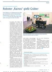 """Titelbild der Ausgabe 3/2019 von AUTOMATISIERTE BEWÄSSERUNG FÜR FRIEDHÖFE: Roboter """"Rainos"""" gießt Gräber. Zeitschriften als Abo oder epaper bei United Kiosk online kaufen."""