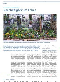 Titelbild der Ausgabe 3/2019 von 84. INTERNATIONALE GRÜNE WOCHE BERLIN 2019: Nachhaltigkeit im Fokus. Zeitschriften als Abo oder epaper bei United Kiosk online kaufen.