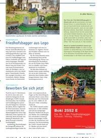 Titelbild der Ausgabe 5/2019 von FRIEDHOFSSPIELZEUG: Friedhofsbagger aus Lego. Zeitschriften als Abo oder epaper bei United Kiosk online kaufen.