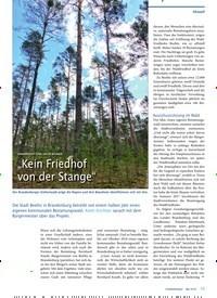 """Titelbild der Ausgabe 5/2019 von URNENBESTATTUNG UNTER BÄUMEN: """"Kein Friedhof von der Stange"""". Zeitschriften als Abo oder epaper bei United Kiosk online kaufen."""