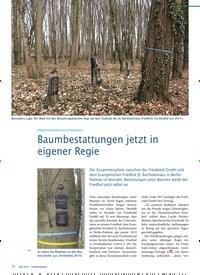 Titelbild der Ausgabe 5/2019 von INNERSTÄDTISCHER BESTATTUNGSWALD: Baumbestattungen jetzt in eigener Regie. Zeitschriften als Abo oder epaper bei United Kiosk online kaufen.