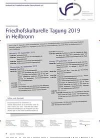 Titelbild der Ausgabe 6/2019 von Verband der Friedhofsverwalter Deutschlands e.V.: TAGUNGSPROGRAMM: Friedhofskulturelle Tagung 2019 in Heilbronn. Zeitschriften als Abo oder epaper bei United Kiosk online kaufen.