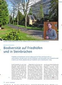 Titelbild der Ausgabe 6/2019 von BEDEUTUNG VON FRIEDHÖFEN: Biodiversität auf Friedhöfen und in Steinbrüchen. Zeitschriften als Abo oder epaper bei United Kiosk online kaufen.