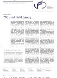 Titelbild der Ausgabe 9/2019 von Verband der Friedhofsverwalter Deutschlands e.V.: NEUE IMAGEKAMPAGNE: 700 sind nicht genug. Zeitschriften als Abo oder epaper bei United Kiosk online kaufen.