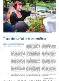 Titelbild der Ausgabe 10/2019 von Tierelebnispfad in Wien eröffnet. Zeitschriften als Abo oder epaper bei United Kiosk online kaufen.