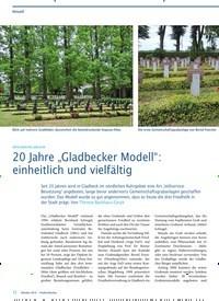 """Titelbild der Ausgabe 10/2019 von 20 Jahre """"Gladbecker Modell"""": einheitlich und vielfältig. Zeitschriften als Abo oder epaper bei United Kiosk online kaufen."""