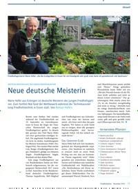 Titelbild der Ausgabe 12/2019 von DEUTSCHE MEISTERSCHAFT DER JUNGEN FRIEDHOFSGÄRTNER: Neue deutsche Meisterin. Zeitschriften als Abo oder epaper bei United Kiosk online kaufen.