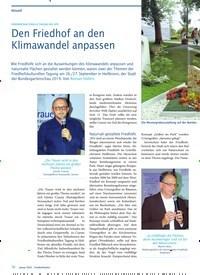 Titelbild der Ausgabe 1/2020 von Den Friedhof an den Klimawandel anpassen. Zeitschriften als Abo oder epaper bei United Kiosk online kaufen.