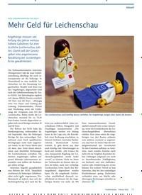 Titelbild der Ausgabe 2/2020 von Mehr Geld für Leichenschau. Zeitschriften als Abo oder epaper bei United Kiosk online kaufen.