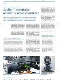 """Titelbild der Ausgabe 2/2020 von ENTWICKLUNGSKONSORTIUM STELLT LÖSUNG VOR: """"Muffel+"""": elektrischer Antrieb für Arbeitsmaschinen. Zeitschriften als Abo oder epaper bei United Kiosk online kaufen."""