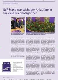 Titelbild der Ausgabe 3/2020 von INTERNATIONALE PFLANZENMESSE IN ESSEN: BdF-Stand war wichtiger Anlaufpunkt für viele Friedhofsgärtner. Zeitschriften als Abo oder epaper bei United Kiosk online kaufen.
