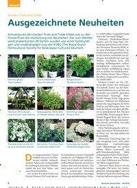 Titelbild der Ausgabe 8/2018 von Garden Trials and Trade: Ausgezeichnete Neuheiten. Zeitschriften als Abo oder epaper bei United Kiosk online kaufen.
