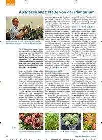 Titelbild der Ausgabe 10/2018 von Ausgezeichnet: Neue von der Plantarium. Zeitschriften als Abo oder epaper bei United Kiosk online kaufen.