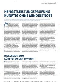 Titelbild der Ausgabe 1/2020 von HENGSTLEISTUNGSPRÜFUNG KÜNFTIG OHNE MINDESTNOTE. Zeitschriften als Abo oder epaper bei United Kiosk online kaufen.