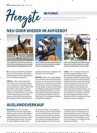 Titelbild der Ausgabe 2/2020 von Hengste IM FOKUS. Zeitschriften als Abo oder epaper bei United Kiosk online kaufen.