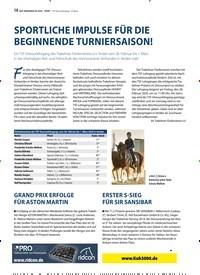 Titelbild der Ausgabe 3/2020 von SPORTLICHE IMPULSE FÜR DIE BEGINNENDE TURNIERSAISON!. Zeitschriften als Abo oder epaper bei United Kiosk online kaufen.