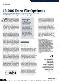 Titelbild der Ausgabe 8/2019 von 13.000 Euro für Optimus. Zeitschriften als Abo oder epaper bei United Kiosk online kaufen.