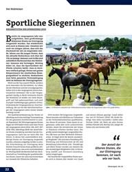 Titelbild der Ausgabe 9/2019 von Sportliche Siegerinnen. Zeitschriften als Abo oder epaper bei United Kiosk online kaufen.