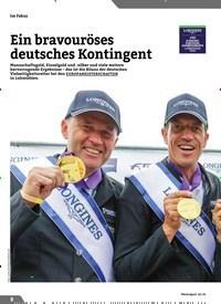 Titelbild der Ausgabe 10/2019 von Ein bravouröses deutsches Kontingent. Zeitschriften als Abo oder epaper bei United Kiosk online kaufen.