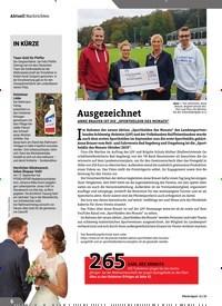 Titelbild der Ausgabe 11/2019 von Nachrichten: Ausgezeichnet. Zeitschriften als Abo oder epaper bei United Kiosk online kaufen.