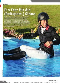 Titelbild der Ausgabe 11/2019 von Ein Fest für die (Reitsport-) Sinne. Zeitschriften als Abo oder epaper bei United Kiosk online kaufen.