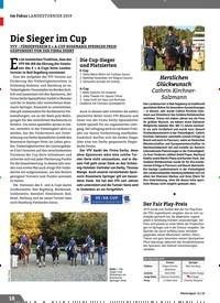 Titelbild der Ausgabe 11/2019 von Die Sieger im Cup. Zeitschriften als Abo oder epaper bei United Kiosk online kaufen.