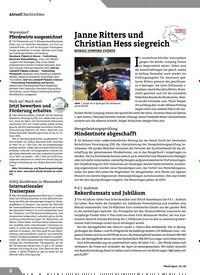 Titelbild der Ausgabe 1/2020 von Nachrichten: Janne Ritters und Christian Hess siegreich. Zeitschriften als Abo oder epaper bei United Kiosk online kaufen.