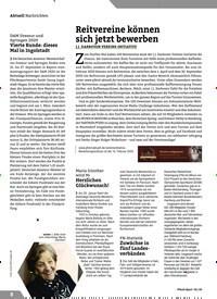 Titelbild der Ausgabe 2/2020 von Reitvereine können sich jetzt bewerben. Zeitschriften als Abo oder epaper bei United Kiosk online kaufen.
