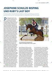 Titelbild der Ausgabe 11/2019 von JOSEPHINE SCHULZE-BISPING UND RUBY'S LAST BOY. Zeitschriften als Abo oder epaper bei United Kiosk online kaufen.