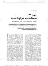 Titelbild der Ausgabe 78/2019 von Schwerpunkt: Best of Tattva: 25 Jahre unabhängiger Journalismus. Zeitschriften als Abo oder epaper bei United Kiosk online kaufen.