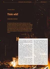 Titelbild der Ausgabe 79/2019 von Think wild!: Liebendes Denken. Zeitschriften als Abo oder epaper bei United Kiosk online kaufen.
