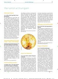 Titelbild der Ausgabe 82/2020 von aktuelle Meldungen: Veranstaltungen. Zeitschriften als Abo oder epaper bei United Kiosk online kaufen.