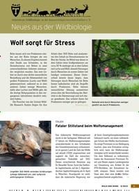 Titelbild der Ausgabe 9/2019 von Wolf sorgt für Stress. Zeitschriften als Abo oder epaper bei United Kiosk online kaufen.