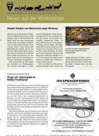 Titelbild der Ausgabe 17/2019 von Neues aus der Wildbiologie. Zeitschriften als Abo oder epaper bei United Kiosk online kaufen.