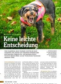 Titelbild der Ausgabe 17/2019 von KASTRATION – JA ODER NEIN?: Keine leichte Entscheidung. Zeitschriften als Abo oder epaper bei United Kiosk online kaufen.